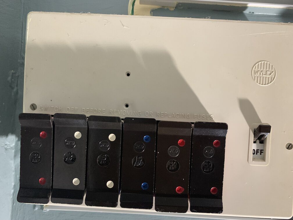 Outdated two part fuse box